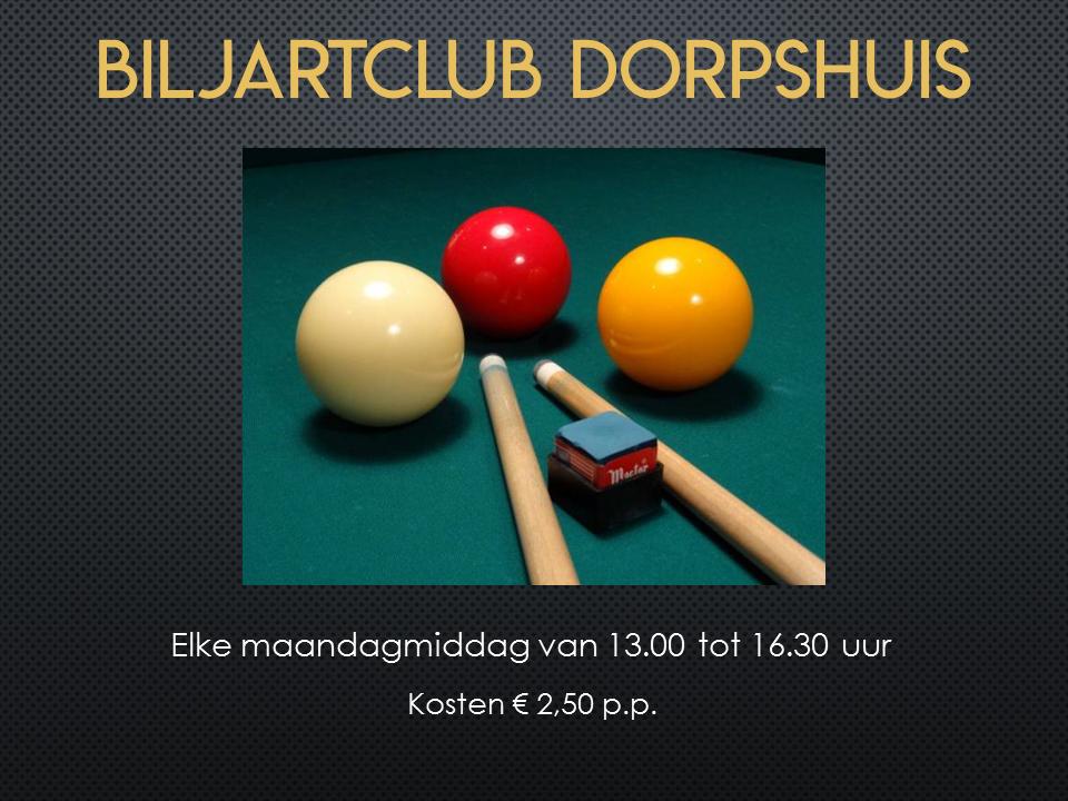 Biljartclub Dorpshuis 2020